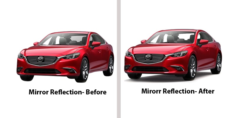 Process of Removing Car Window Reflection